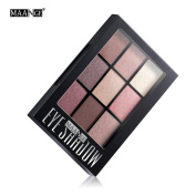 9 Colours Shimmer Matte Pigment Makeup Beauty Cosmetics Mineral Eye Shadow Professional Natural Nude Smokey Palette
