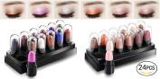 Healthcom Eyeshadow Pen Set Eyes Makeup Eyeshadow Shimmer Eye Shadow Stick Waterproof Glitter Eyeshadow,24 Pcs