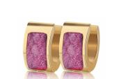 Earrings for Men Hoop Small Pink Charm Mens Stud Earring