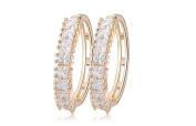Earrings for Men Round Gold Crystal Mens Stud Earring