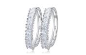 Earrings for Men Round Hollow Crystal Mens Stud Earring