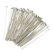 AD Beads 100 Pcs Flat Head Pins Jewellery Findings Making 0.7x45mm