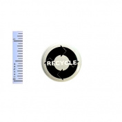 Recycle Button Eco Earth Friendly Conscious Save The Planet Bag Pin Pinback 2.5cm