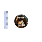 Nature Button Protect Wild Places Wildlife Preserve Forests Pin Pinback 2.5cm