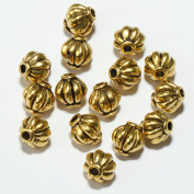 Small Tibetan Gold Lantern Metal Spacer Round Beads Crafts Finding Jewellery Making DIY