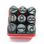 QIANDUOO Hand Metal Marking Stamps Uppercase Punches Numbers Set 3MM 4MM