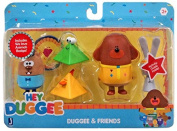 Hey Duggee And Friends set with We Love Animals Badge and Activity Cube