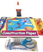 Tree House Kids Construction Paper Bundle - 36 Count - Assorted Colours