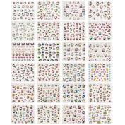 ALLYDREW 24 Sheets Hello Kitty Nail Stickers Set Hello Kitty Nail Art Nail Decals