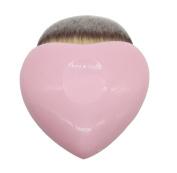 VIASA Cute Pink Heart Shaped Powder Brush Blush Brush Makeup Cosmetic Brush 1Pc