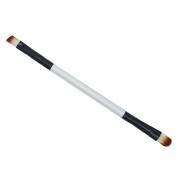 VIASA Makeup Brush Double-end Eyeshadow Eyebrow Brush Makeup Cosmetic Tool (Black & Silver)