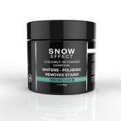 Mia Adora Teeth Whitening Activated Charcoal with Coconut - Natural Teeth Whitening at Home - Mint Flavour - Snow Effect