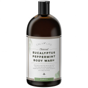 Calily Life Organic Detoxifying Charcoal + Eucalyptus + Peppermint Body Wash, 1000ml – Deep Cleansing and Refreshing + Therapeutic, Relaxing & Invigorating