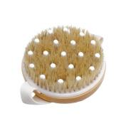 OrliverHL Wooden Bath Body Wood Brush Massager Bristles Scrubber Skin Care Dry & Wet