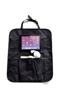 Perfect Back Seat Organiser by TwinStarGo, Touch Screen Car Tablet Holder and Kick Mat