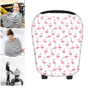 Martofbaby Pink Car Seat Covers for Babies Nursing Shopping Cart Canopy Premium Quality Breathable Soft