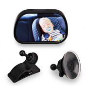 Amigo Global Baby Rear View Mirror Baby Car Monitor Baby In-Sight Auto Rear View Mirror for in Car Safety