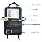 Car Backseat Organiser, Multipurpose Baby Stroller Organiser, Car Backseat Protector, Travel Storage Bag