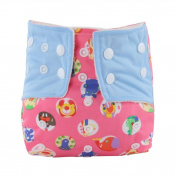 Voberry Reusable Baby Cloth Nappies Infant Printed Washable Snap Nappy
