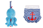 Ganz Nautical Nappy Cover & Musical Pull Octopus Skitter Critter