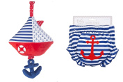 Ganz Nautical Nappy Cover & Musical Pull Sail Boat