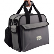 Anna & Eve LC-0001 The Life Changer Nappy Bag & Portable Lap Changing Station44; Charcoal Grey