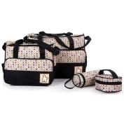 Micropromo 5Pcs/Set Multifunction Baby Nappy Bag Large Capacity Nappy Changing Bag Mummy Maternity Bag