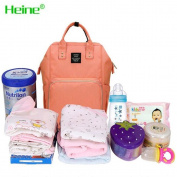 Heine Mummy backpack Nappy Bag Multi-Function Waterproof Travel Backpack Nappy Bags for Baby Care, Large Capacity, Stylish and Durable