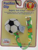 Baby Gund Soft Soccer Ball Pacifier Holder Clip