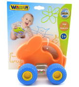 Wader Quality Toys Orange Bunny Baby Rattle