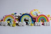 Mixed 3 Colours Kawaii Flatback DIY Clay Rainbow Cabochons Flat Back Scrapbooking Embellishment