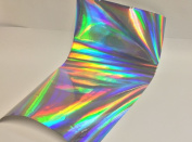 Silver Holographic Rainbow, 8 sheets, 20cm x 30cm