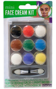 Shop72 - Mini Face Cream Paint Set - Face Paint Kit - Full Face Painting White Black Red Green Blue Yellow Brown Purple Face Paint