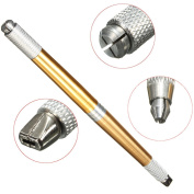 3 in 1 Microblading Pen Permanent Tattoo Pen Eyebrow Pen For Manual Eyebrow Tattoo,With 14 Needles