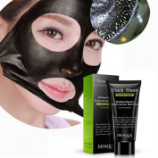 Facial Charcoal Black Mask (100 mg) Applicator Included - Purifying Peel-off Effect – Removes Blackheads and Dead Skin, Cleanse and Minimises Pores by BeautyLine