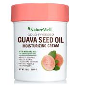 NatureWell Cold-Pressed Guava Seed Oil Moisturising Cream, 470ml