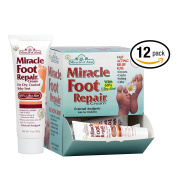 Miracle of Aloe, Miracle Foot Repair Cream with 60% UltraAloe 30ml tube - 12 piece display