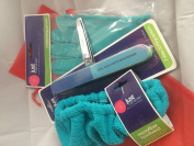 Spa Kit Bundle- Moisturising Gloves, Microfiber Headband, 7 Sided Nail Buffer, Trim Nail Clippers in Organza Bag