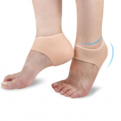 Silicone Gel Heel Protector - Plantar Fasciitis Soft Socks for Hard, Cracked, Dry Skin - Moisturising Protector