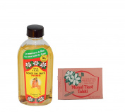 Monoi Tiki Tahiti Pitate and Monoi Tiare Tahiti Toilet Bar Soap Bundle With Coconut Oil, Vitamin E and Jasmine, 4 f