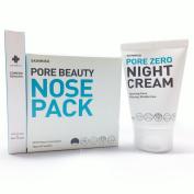 [SKINMISO-KOREA] SET - Pore Beauty Nose Pack Blackhead Care 3 Step System (10 Weeks Programme) + Comedo Remover Tool + Pore Zero Night Cream 80g
