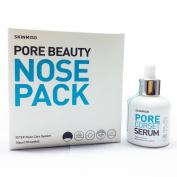 [SKINMISO-KOREA] SET - Pore Beauty Nose Pack Blackhead Care 3 Step System (10 Weeks Programme) + Pore Minimising Corset Serum 30ml