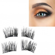 Magnetic False Eyelashes, AMA(TM) Women Ultra-thin 0.2mm Magnetic Eye Lashes 3D Mink Reusable Magnet Eyelashes Extension