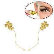 1/5/10Pair Gold High-grade Clover Grafted False Adhesive Eyelashes Display Shelves Eyelash Grafting Tool