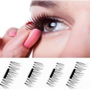 Magnetic False Eyelashes, AMA(TM) Women Ultra-thin 7mm Magnetic Eye Lashes 3D Mink Reusable Magnet Eyelashes Extension