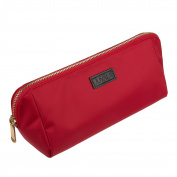 Cosmetic Makeup Bag - Portable Polyester Clutch Pouch Travel Bag for Cosmetic Organising, Makeup, Travel, Item Storage, Red - 11 x 11cm x 8.9cm