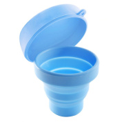 ULTNICE Collapsible Silicone Cup with Lid Certified BPA Free Silicone Portable Pop-up Cup