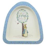 Beatrix Potter Peter Rabbit Featuring Peter Organic Plate made from Bamboo / Height:3.0cm Width:22.0cm Depth:18.0cm