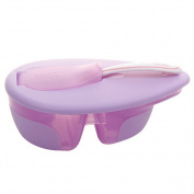 Pueri Baby Feeding Bowl Spoon Set Temperature Sensing Spoon Suction Cup Bowl Slip-resistant Tableware Set