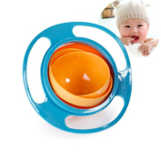 Baby Bowl Children Tableware Non Spill Bowl Toy Dishes Universal 360 Rotate Avoid Food Spilling Food Snacks Bowl Lunch Box Children Christmas Gifts